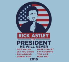Astley For President One Piece - Short Sleeve