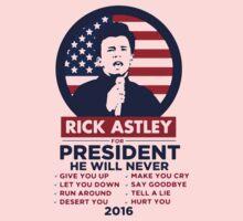 Astley For President Kids Tee