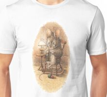 A Mouse Knitting by Beatrix Potter Unisex T-Shirt