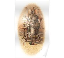 A Mouse Knitting by Beatrix Potter Poster