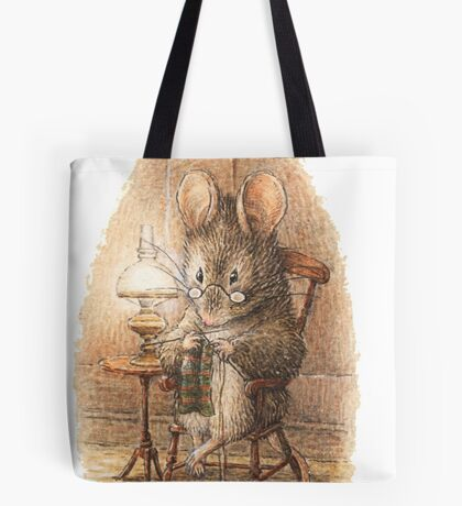 A Mouse Knitting by Beatrix Potter Tote Bag