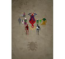8-Bit Marvels Spiderman Photographic Print