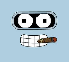 Bender Face - Futurama by janeemanoo