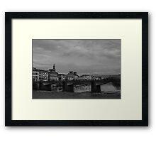 Florence Arno River  Framed Print