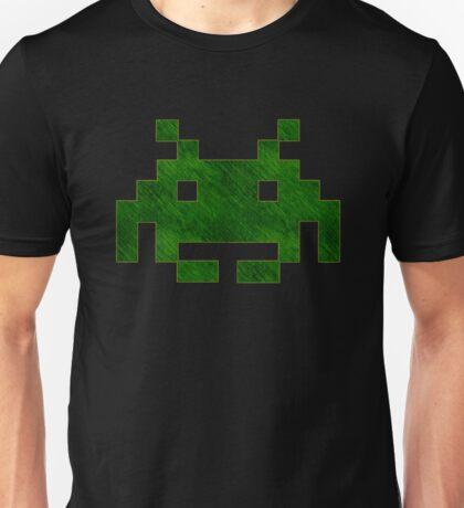 °GEEK° Space Invaders Green Denim Unisex T-Shirt