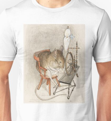 A Mouse on his Spinning Wheel by Beatrix Potter Unisex T-Shirt