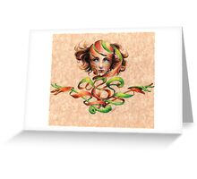 DNA peeled Greeting Card