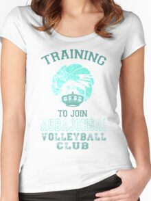 Training to join Aobajohsai Volleyball Club Women's Fitted Scoop T-Shirt