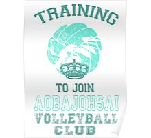 Training to join Aobajohsai Volleyball Club Poster