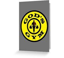 God's Gym (God of War) Greeting Card
