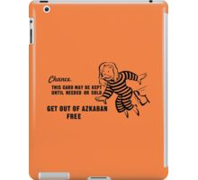 Get Out of Azkaban Free Card iPad Case/Skin