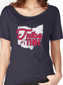 Tribe Time - Cleveland Baseball Women's Relaxed Fit T-Shirt