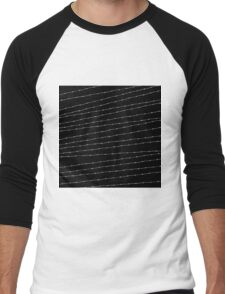Cool black and white barbed wire pattern Men's Baseball ¾ T-Shirt
