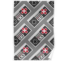 Retro Video Game Pattern Poster
