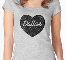 I Love Dallas - I Heart DAL (Cursive) Women's Fitted Scoop T-Shirt