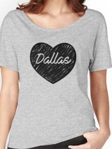 I Love Dallas - I Heart DAL (Cursive) Women's Relaxed Fit T-Shirt