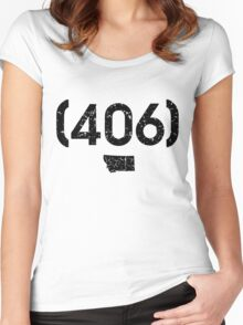 Area Code 406 Montana Women's Fitted Scoop T-Shirt