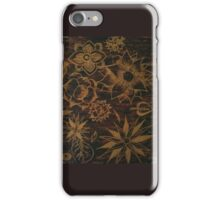 Scratching lotus in oil pastels iPhone Case/Skin