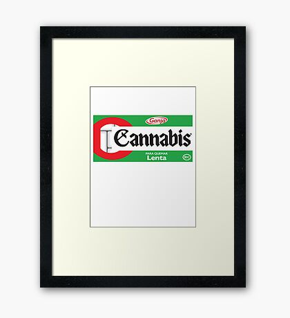 CANNABIS Framed Print
