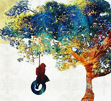 Colorful Landscape Art - The Dreaming Tree - By Sharon Cummings by Sharon Cummings