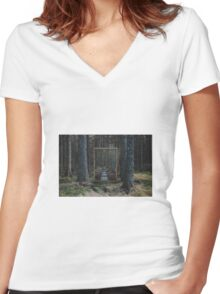 Mirror Of The Soul Women's Fitted V-Neck T-Shirt