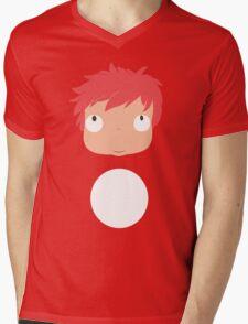 Ponyo likes you! Mens V-Neck T-Shirt