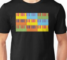 Music Keyboard Piano Synth Pop Art Unisex T-Shirt