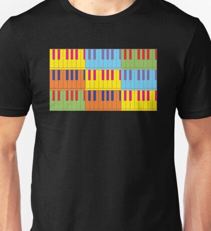 Music Keyboard Piano Synth Pop Art Unisex T-Shirt