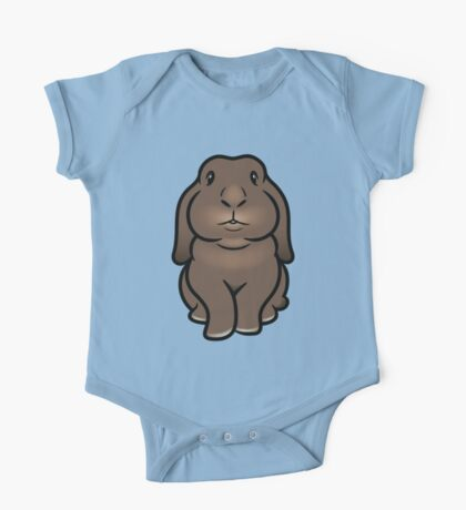 Coco the Minilop Bunny One Piece - Short Sleeve