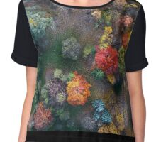 Fall colours from above Chiffon Top
