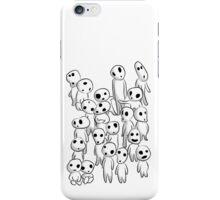 Tree's spirits (Full White) iPhone Case/Skin