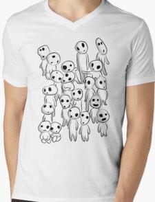 Tree's spirits (Full White) Mens V-Neck T-Shirt