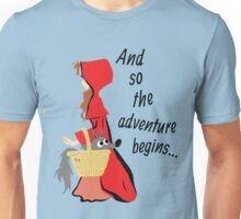 Little Red Riding Hood and Her Wolf Pup Unisex T-Shirt