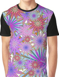 Colourful  Floral Graphic T-Shirt