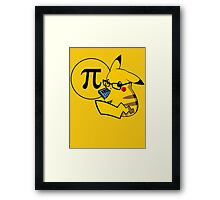 Pi-kachu v2.1(with shadows and glasses without lenses) Framed Print