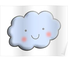 Cloud, Cute, Happy Poster