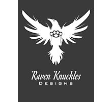 Raven Knuckles White Photographic Print