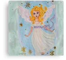 Christmas angel in the sky Canvas Print