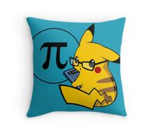 Pi-kachu v2.0(with shadows and glasses with lenses) Throw Pillow