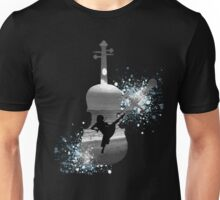 Let The Music Play - Black and White Unisex T-Shirt