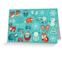 Hello winter Greeting Card