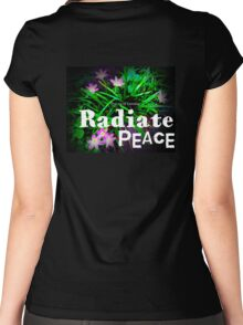 Radiate Peace Lilies Women's Fitted Scoop T-Shirt