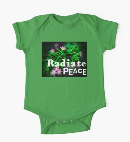 Radiate Peace Lilies One Piece - Short Sleeve