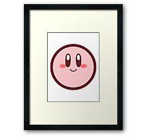 Kirby from Kirby: Canvas Curse Framed Print