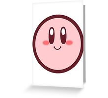 Kirby from Kirby: Canvas Curse Greeting Card
