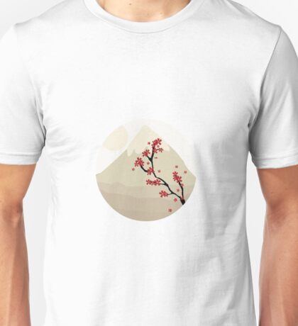 Oriental Japanese Mountain View Unisex T-Shirt