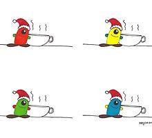 Happy holidays, Earthlings! by Katy Wuerker