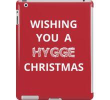 Christmas card - wishing you a hygge Christmas  iPad Case/Skin