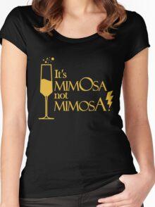 Wingardium MimOsa - Black/Yellow Women's Fitted Scoop T-Shirt