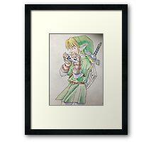 Link playing Ocarina Framed Print